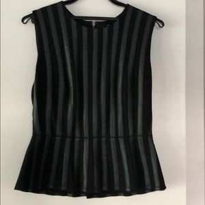 BCBGMAXAZRIA top with faux leather size M